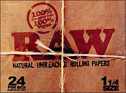 RAW 1 1/4 CIGARETTE PAPER 24CT BOX