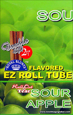 ROYAL BLUNTS EZ ROLL TUBE SOUR APPLE - 25 2/PKS
