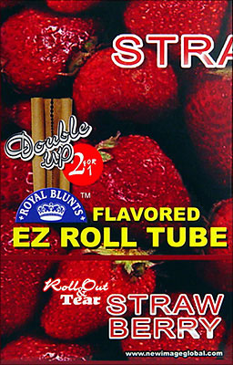 ROYAL BLUNTS EZ ROLL TUBE STRAWBERRY - 25 2/PKS