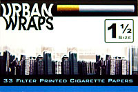 URBAN WRAPS 1 1/2 CIGARETTE PAPERS 24CT BOX