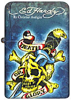 Ed Hardy Tattoo Lighter - Death Or Glory Design