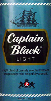 Captain Black Light Pipe Tobacco 6 - 1.5oz Packs