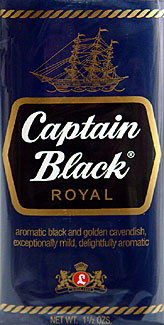 Captain Black Royal Pipe Tobacco 6 - 1.75oz Packs