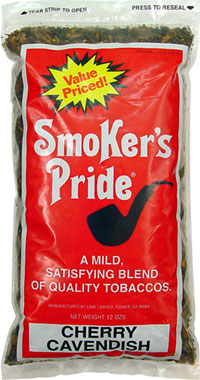 Smoker's Pride Pipe Tobacco Cherry Cavendish 12oz Bag