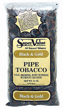 Super Value Black & Gold Pipe Tobacco 12oz Bag