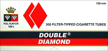 Buy DOUBLE DIAMOND CIGARETTE TUBES FULL FLAVOR 100 - 200CT BOX