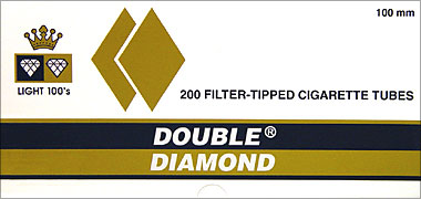 DOUBLE DIAMOND CIGARETTE TUBES LIGHT 100 - 200CT BOX