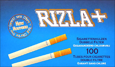 RIZLA+ KING SIZE FILTER CIGARETTE TUBES DOUBLE FILTERS - 100CT