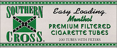 SOUTHERN CROSS MENTHOL 200 CT TUBES
