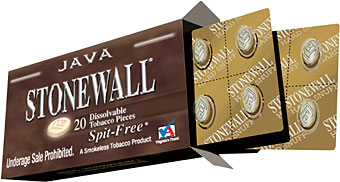 STONEWALL DISSOLVABLE TOBACCO - JAVA - 5 PACKS OF 20