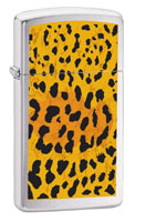 ZIPPO SLIM PANTHER FUR - BRUSHED CHROME