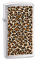 ZIPPO SLIM JAGUAR FUR - BRUSHED CHROME