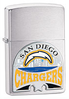 ZIPPO NFL CHARGERS EMBLEM - BRUSHED CHROME