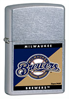 ZIPPO MLB BREWERS - STREET CHROME