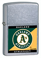 ZIPPO MLB ATHLETICS - STREET CHROME