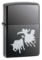 ZIPPO BULLROPING - BLACK ICE