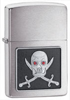 ZIPPO PIERCING EYE PIRATE EMBLEM - BRUSHED CHROME