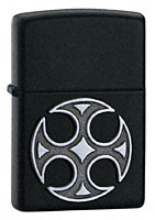 ZIPPO MEDIEVAL CROSS EMBLEM - BLACK MATTE
