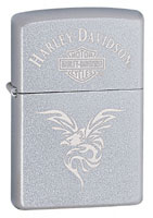 ZIPPO HARLEY-DAVIDSON EAGLE WITH ATTITUDE - SATIN CHROME