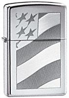 ZIPPO OLD GLORY - HIGH POLISH CHROME