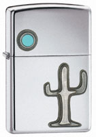 ZIPPO DESERT AFTERNOON EMBLEM - HIGH POLISH CHROME