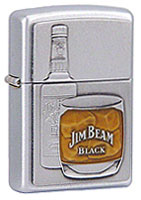 ZIPPO JIM BEAM BOTTLE- SATIN CHROME