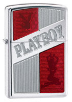 ZIPPO PLAYBOY RUBY RED - ARMOR - HIGH POLISH CHROME