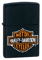 ZIPPO H-D LOGO - BLACK MATTE
