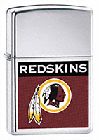 ZIPPO NFL REDSKINS LOGO - HIGH POLISH CHROME