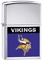 ZIPPO NFL VIKINGS LOGO - HIGH POLISH CHROME