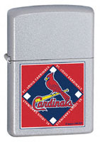 ZIPPO MLB CARDINALS - SATIN CHROME