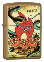 ZIPPO TATTOO - HONEY GOLD