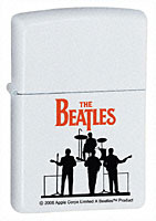 ZIPPO BEATLES SILHOUETTE - WHITE MATTE