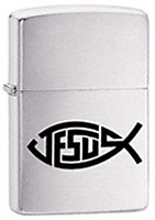 ZIPPO JESUS FISH - BRUSHED CHROME