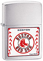 ZIPPO MLB BOSTON RED SOX - BRUSHED CHROME