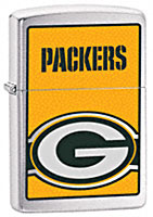ZIPPO NFL GREEN BAY PACKERS - BRUSHED CHROME