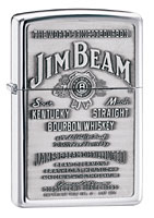 ZIPPO JIM BEAM PEWTER EMBLEM - HIGH POLISH CHROME
