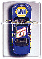 ZIPPO MICHEAL WALTRIP &quot;#15 CAR TOP VIEW&quot; - HIGH POLISH CHROME
