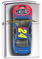 "ZIPPO JEFF GORDON ""#24 CAR TOP VIEW"" - HIGH POLISH CHROME"