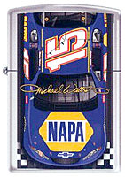 ZIPPO MICHAEL WALTRIP &quot;#15 FINISH LINE&quot; - HIGH POLISH CHROME