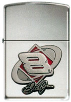 ZIPPO DALE JR. &quot;DIAMOND EMBLEM&quot;- HIGH POLISH CHROME