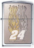 "ZIPPO JEFF GORDON ""FLAMES EMBLEM"" - HIGH POLISH CHROME"