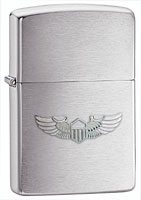 ZIPPO U.S. ARMY WINGS EMBLEM - BRUSHED CHROME