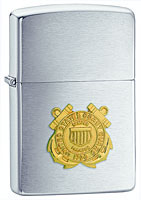 ZIPPO U.S. COAST GUARD EMBLEM - BRUSHED CHROME