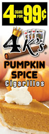 4 Kings Cigarillos Pumpkin Spice 15ct Box