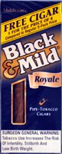 BLACK and MILD ROYALE  CIGARS 10 - 5PKS
