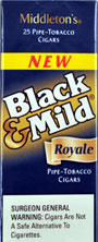 BLACK and MILD ROYALE  CIGARS 25 COUNT BOX