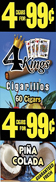 4 Kings Cigarillos Pina Colada 15ct Box
