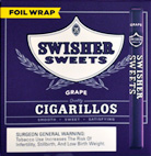 SWISHER SWEETS CIGARILLOS GRAPE FOIL WRAPPED 60CT BOX