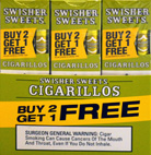 SWISHER SWEETS CIGARILLOS FOIL WHITE GRAPE 30 - 3PKS